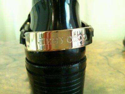 画像2: JIMMY CHOO(ジミーチュウ)ブラック×ゴールド金具付きヒールレインブーツ CHESTER35