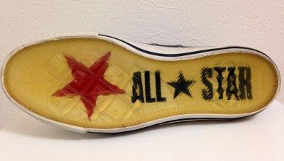 画像2: CONVERSE×JOHN VARVATOS(コンバース×ジョンバルバトス) パープルレザーALL STAR(オールスター)ハイカットスニーカー8 1/2