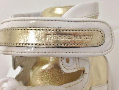 画像1: PIERRE HARDY(ピエールアルディ)ゴールドレザー×ホワイトパテントハイカットスニーカー40