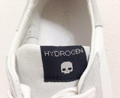 画像1: HYDROGEN(ハイドロゲン)ホワイトレザー×グレースエードトリコロールラインスニーカー43