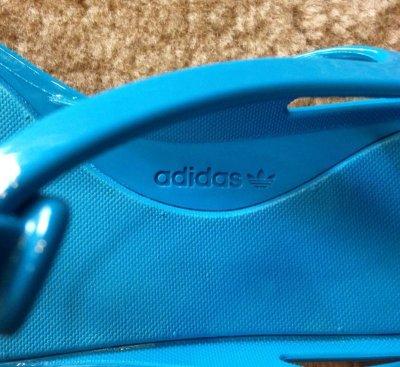画像2: adidas(アディダス)ターコイズブルーTストラップフラットサンダル ZX SANDAL W UK4