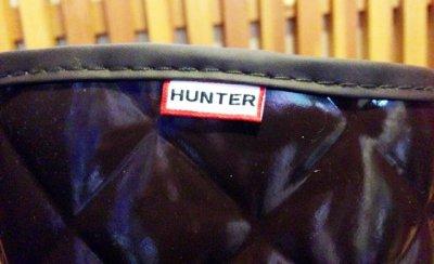 画像1: HUNTER(ハンター)キルティングレインブーツREGENT SAVOY ダークブラウンUK7