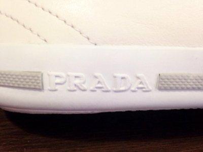 画像2: PRADA(プラダ)オールスタータイプホワイトナッパレザースニーカー9