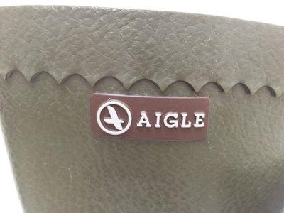 画像1: AIGLE(エーグル)カーキハーフ丈メンズレインブーツ BISON 43
