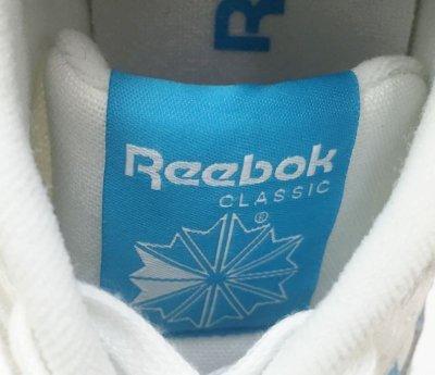 画像1: REEBOK(リーボック)ホワイトキャンバス×グレースエード×ライトブルーローカットスニーカーUSA9