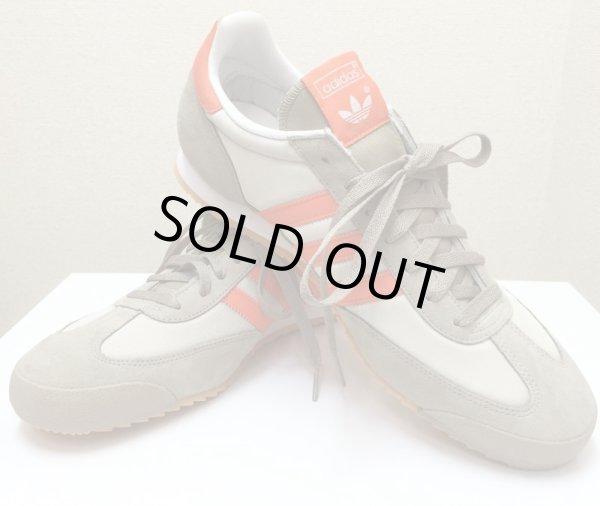 画像1: adidas(アディダス)ベージュ×オレンジスニーカーDRAGON US13 (1)