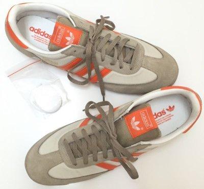 画像3: adidas(アディダス)ベージュ×オレンジスニーカーDRAGON US13