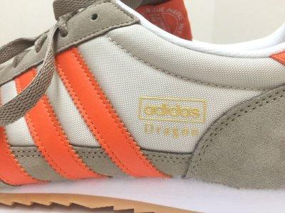 画像2: adidas(アディダス)ベージュ×オレンジスニーカーDRAGON US13