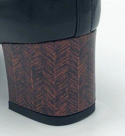 画像2: BRUNO MAGLI(ブルーノマリ)ブラックレザー×プリントヒールパンプス25