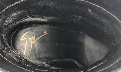画像2: GIUSEPPE ZANOTTI DESIGN(ジュゼッペザノッティデザイン)ブルーグレースエード×ブラックレザー折り返しデザインショートブーツ35