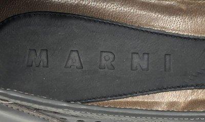画像2: MARNI(マルニ)グレーパンチングレザーストラップシューズ36