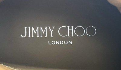 画像2: JIMMY CHOO(ジミーチュウ)ブラックレザー×ネイビーラメハイカットスニーカーTokyo36 1/2