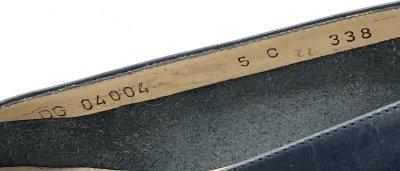 画像2: OLD FERRAGAMO(オールドフェラガモ) ブラックレザーヴァラリボンパンプス 5C