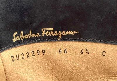 画像2: OLD FERRAGAMO(オールドフェラガモ)  ブラックレザーベルト付きハーフブーツ 6 1/2C
